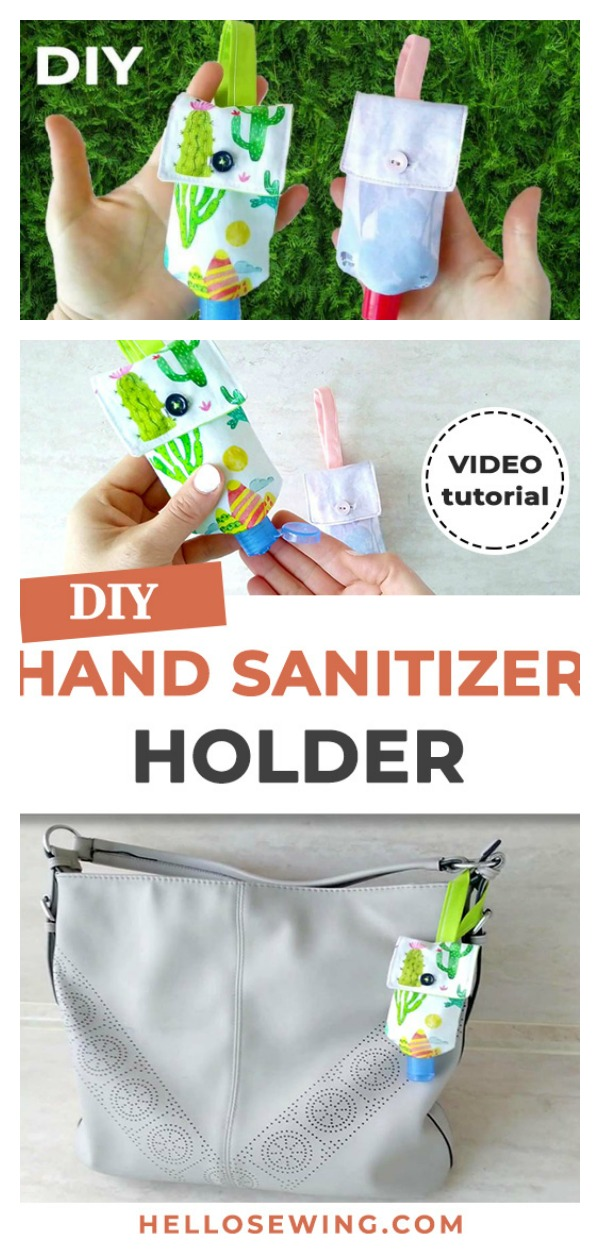 DIY Hand Sanitizer Holder Free Sewing Pattern