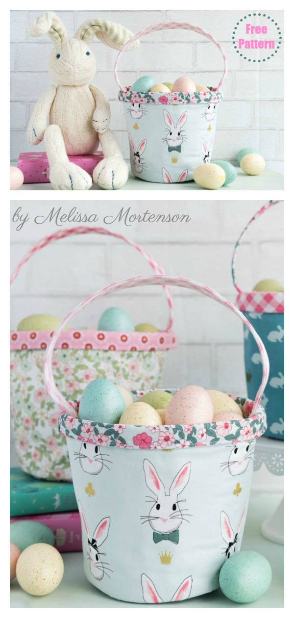 Easter Basket Free Sewing Pattern