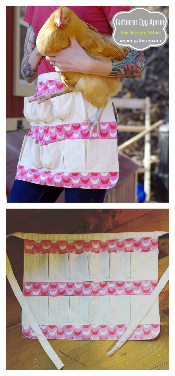 Gatherer Egg Apron Free Sewing Pattern