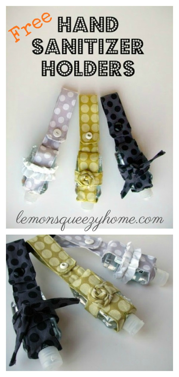 Hand Sanitizer Holder Free Sewing Pattern