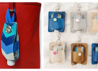 Hand Sanitizer Holder Free Sewing Pattern