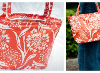 Little Vinyl Bag Free Sewing Pattern