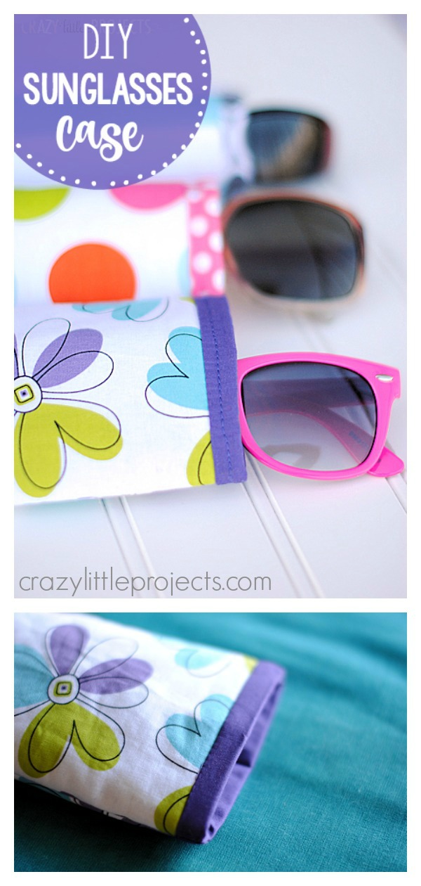 Quick and Easy Sunglasses Case Free Sewing Pattern