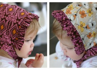 Reversible Baby Bonnet Free Sewing Pattern