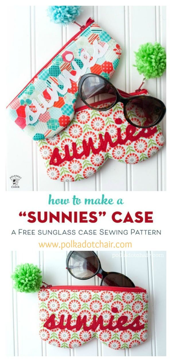 Sunnies Sunglasses Case Free Sewing Pattern