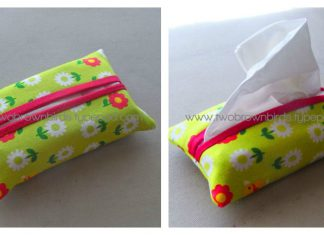 Tissue Pouch Free Sewing Pattern