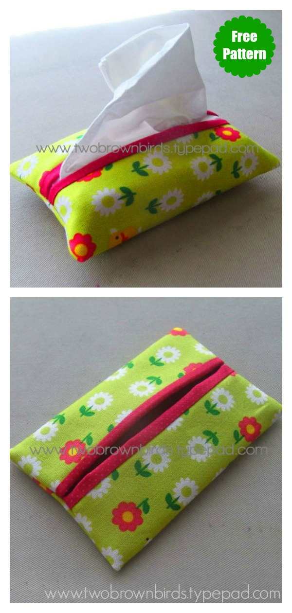 Travel Tissue Cover Free Sewing Pattern