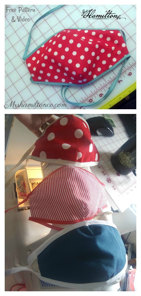 3D Cloth Face Mask with Pocket Free Sewing Pattern and Video Tutorial