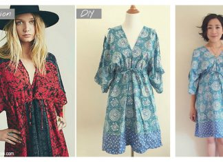 Boho Kimono Dress Free Sewing Pattern