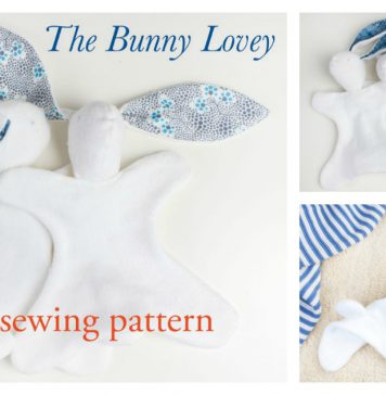 Bunny Lovey Free Sewing Pattern