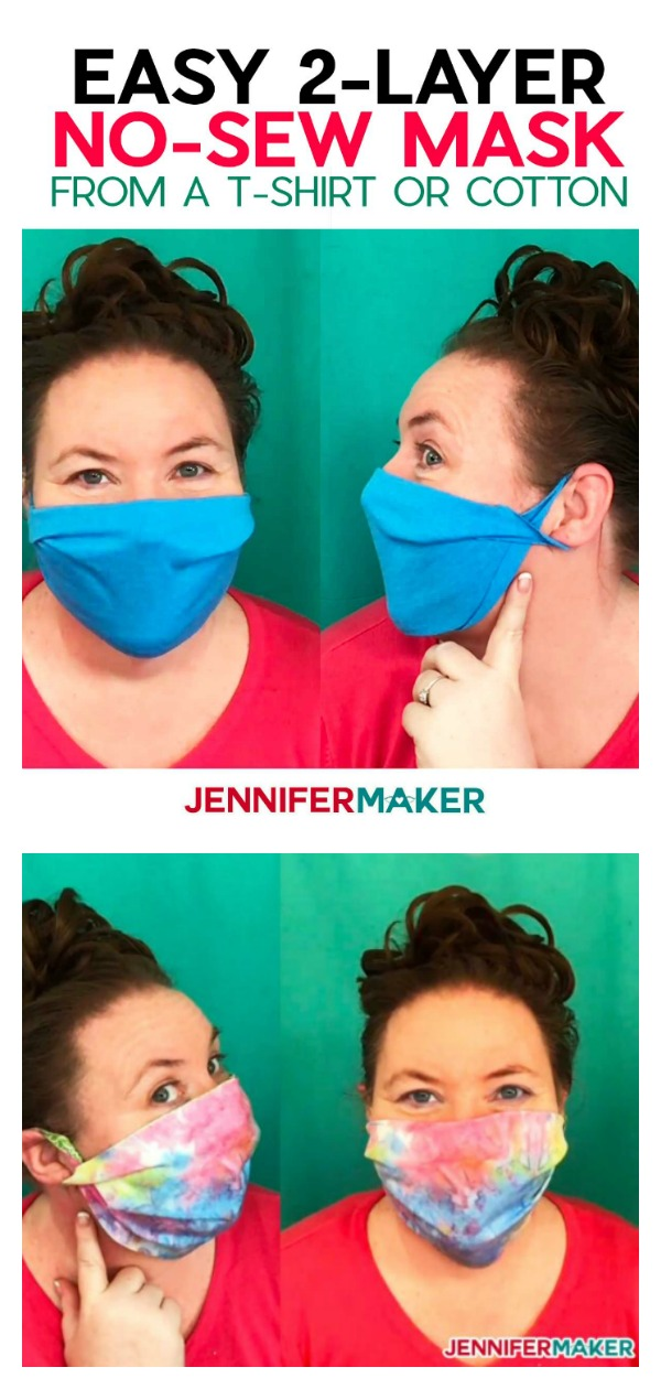 Easy NO-Sew Face Mask From a T-Shirt Free Sewing Pattern and Video Tutorial