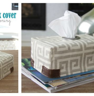 Fabric Tissue Box Cover Free Sewing Pattern
