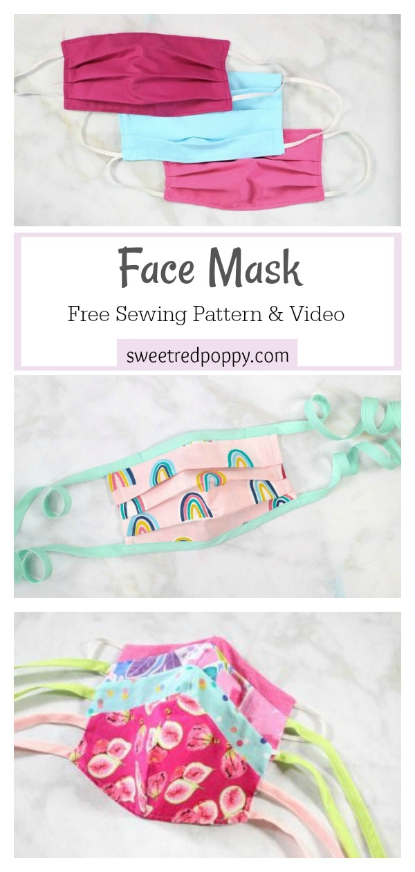 Face Mask Free Sewing Pattern and Video Tutorial
