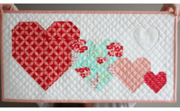 I Heart You Mini Quilt Free Sewing Pattern