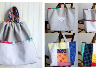 Japanese Knock off Tote Bag Free Sewing Pattern
