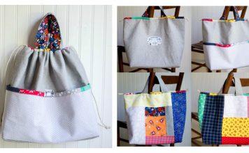 Japanese Knock off Tote Bag Free Sewing Pattern