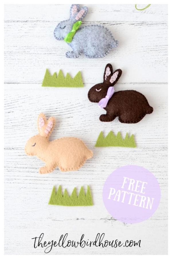 Little Felt Bunny Free Sewing Pattern