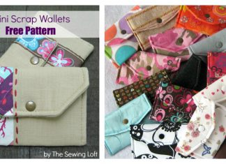 Mini Scrap Wallet Free Sewing Pattern