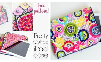 Pretty Quilted iPad Case Free Sewing Pattern