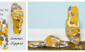 Summer Slippers Free Sewing Pattern