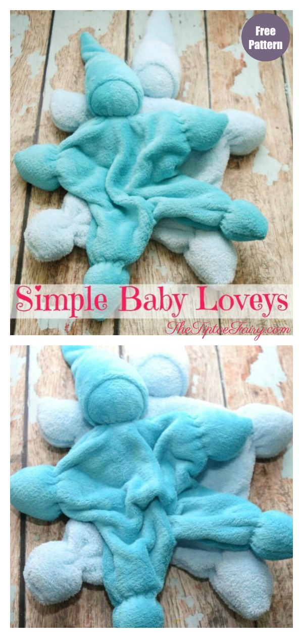 Simple Baby Lovey Free Sewing Pattern