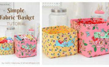 Simple Fabric Basket Free Sewing Pattern
