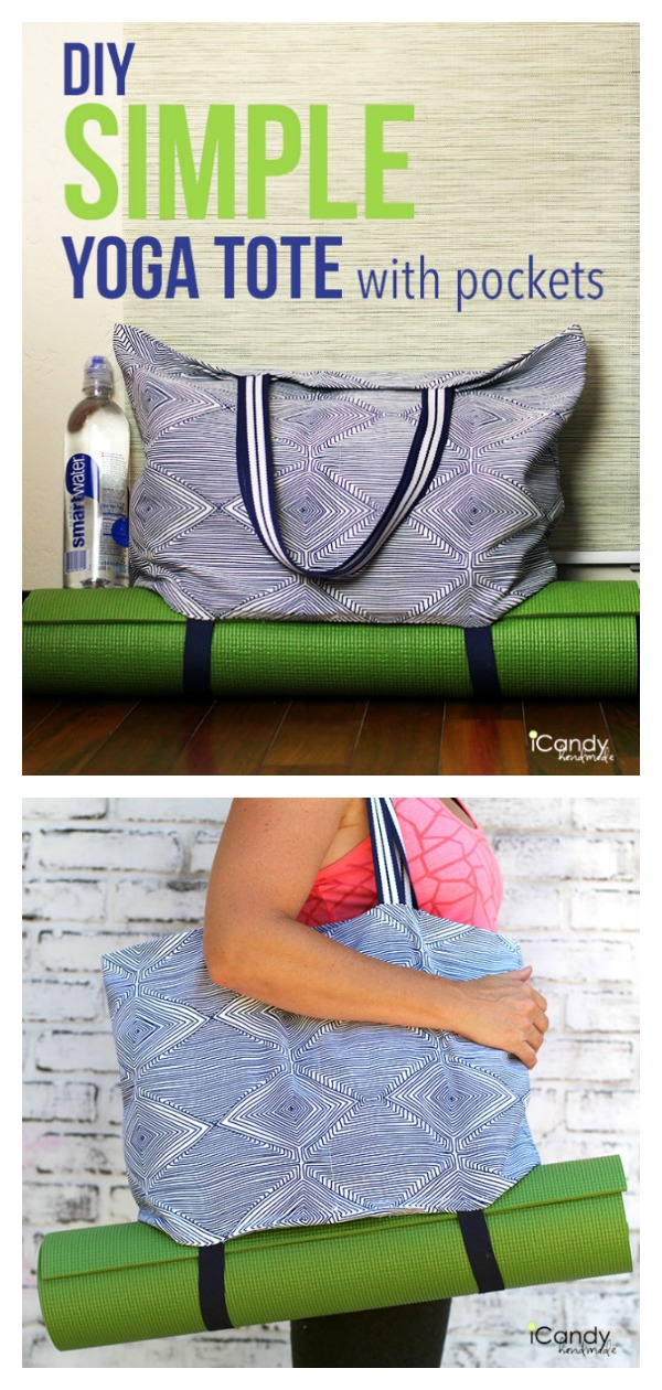 Simple Yoga Tote Free Sewing Pattern
