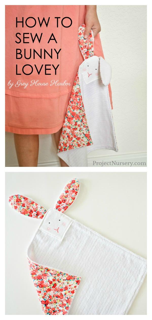 Sweet Bunny Lovey Free Sewing Pattern