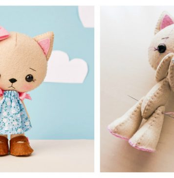 Sweet Felt Doll Free Sewing Pattern and Template