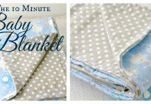 10 Minute Simple Baby Blanket Free Sewing Pattern