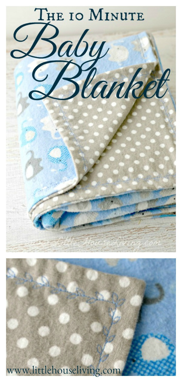 10 Minute Simple Baby Blanket Free Sewing Pattern