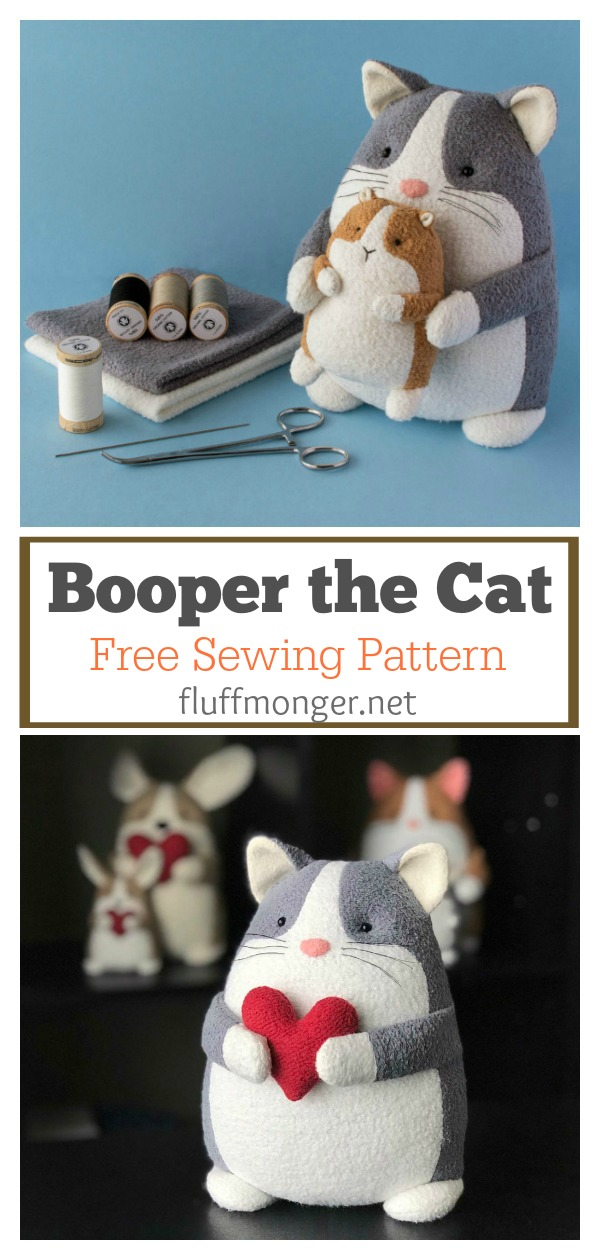 Booper the Cat Free Sewing Pattern