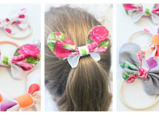 Butterfly Hair Bows Free Sewing Pattern