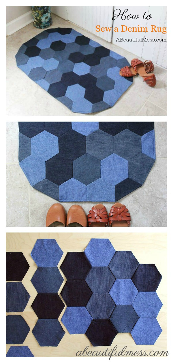 Denim Rug Free Sewing Pattern