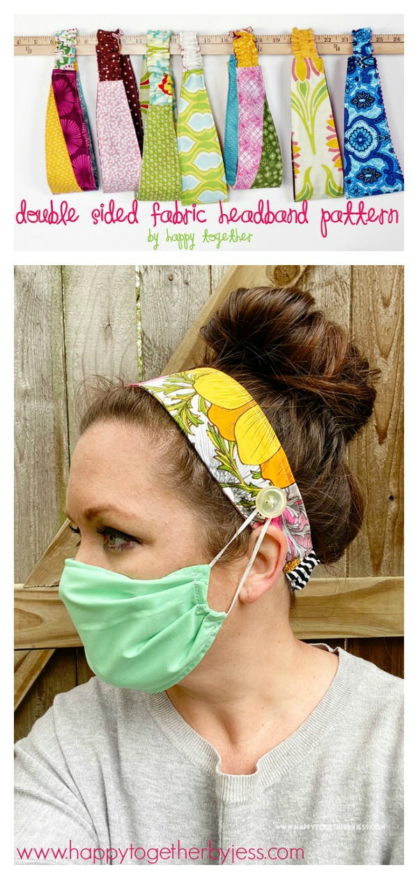 Double Sided Fabric Headband Free Sewing Pattern