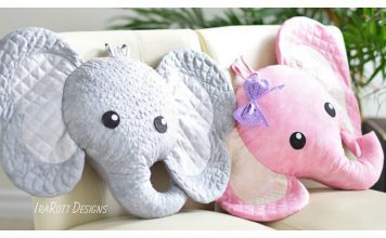 Elephant Pillow Sewing Pattern