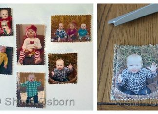 Fabric Photo Magnets Free Sewing Pattern