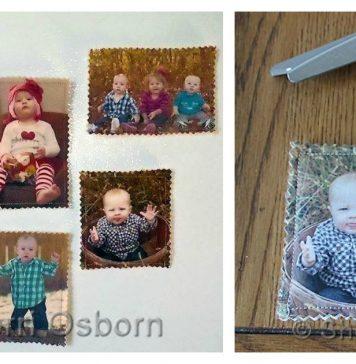 Fabric Photo Magnets Free Sewing Pattern