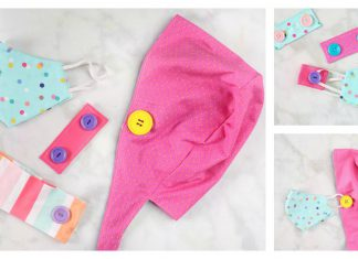 Face Mask Ear Saver Free Sewing Pattern
