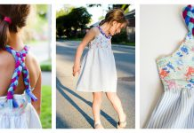 Girl Braided Dress Free Sewing Pattern