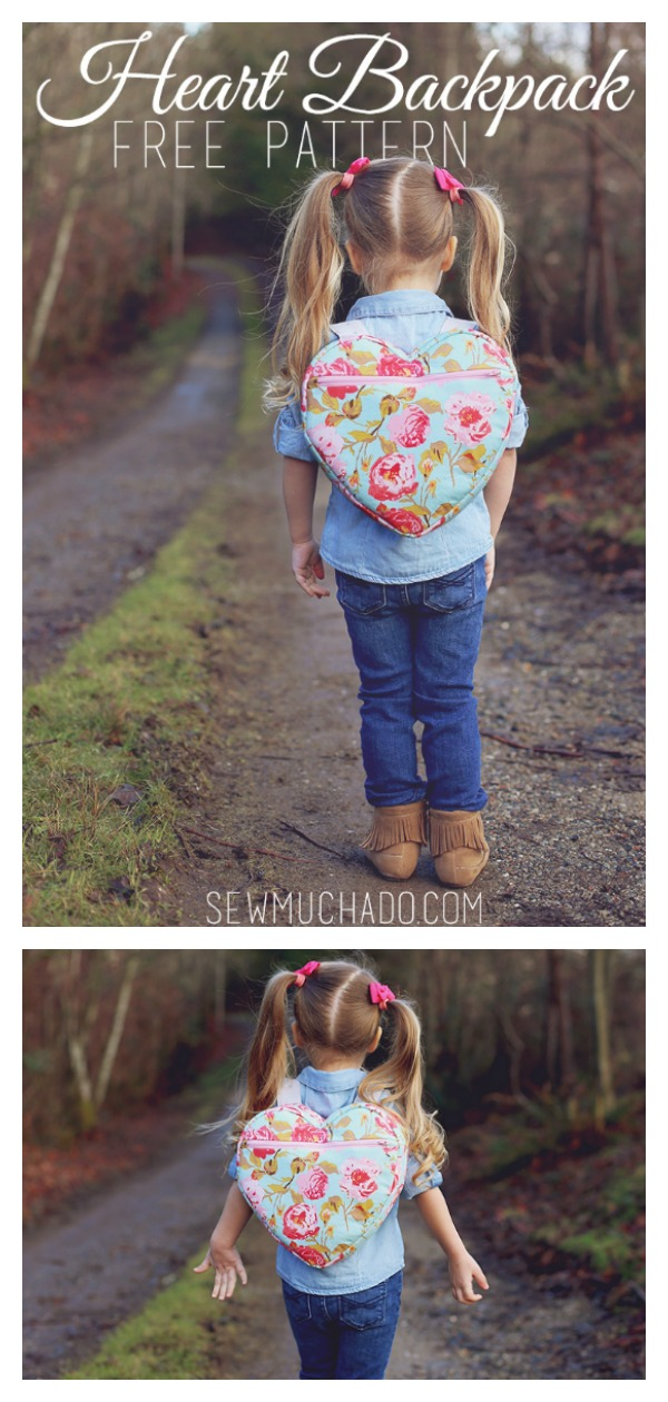 Heart Backpack Free Sewing Pattern