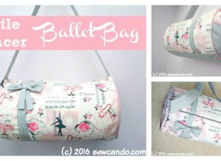 Little Dancer Ballet Bag Free Sewing Pattern