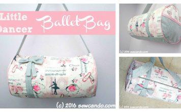 Little Dancer Ballet Bag Free Sewing Pattern