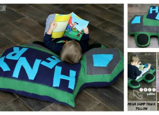 Mega Dump Truck Floor Pillow Free Sewing Pattern