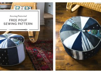Patchwork Pouf Ottoman Free Sewing Pattern