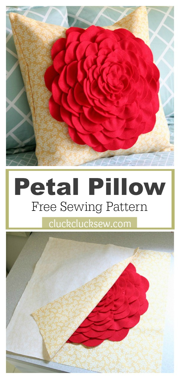 Petal Pillow Free Sewing Pattern