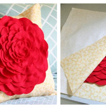 Petal Pillow Free Sewing Pattern
