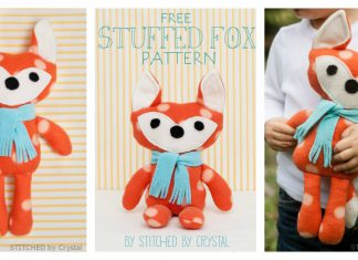 Plush Fox Toy Free Sewing Pattern