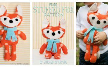 Plush Fox Toy Free Sewing Pattern