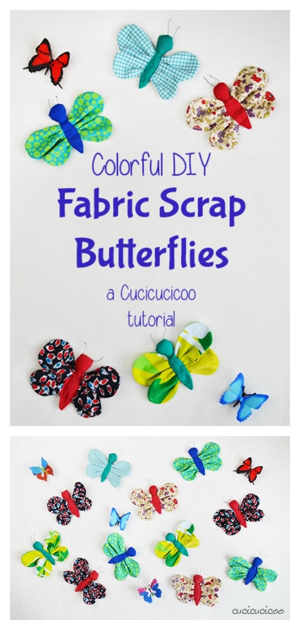Scrap Fabric Butterfly Free Sewing Pattern